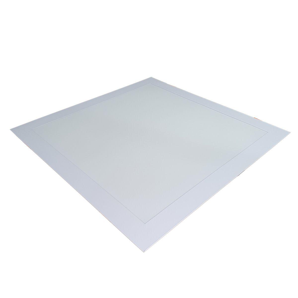 Luminária LED Embutir 36w Quadrada Branco Quente 3000k Plafon