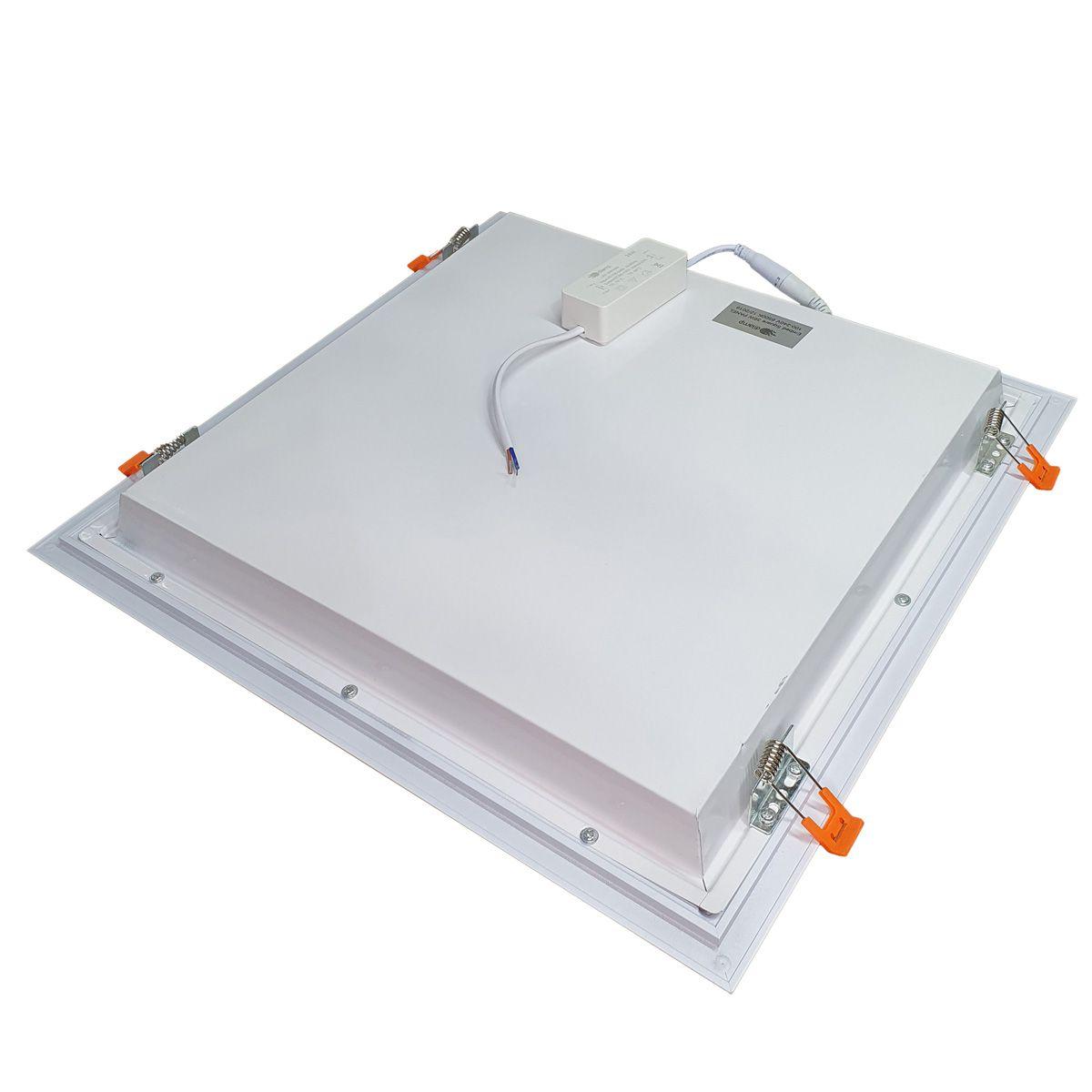 Painel Plafon LED 36w Quadrado Luminaria Embutir Branco Luz Quente