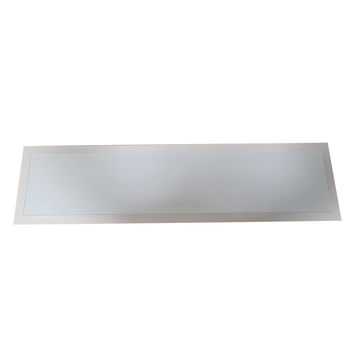 Luminária Plafon 30x120 48w LED Embutir Retangular Branco Quente 3000k
