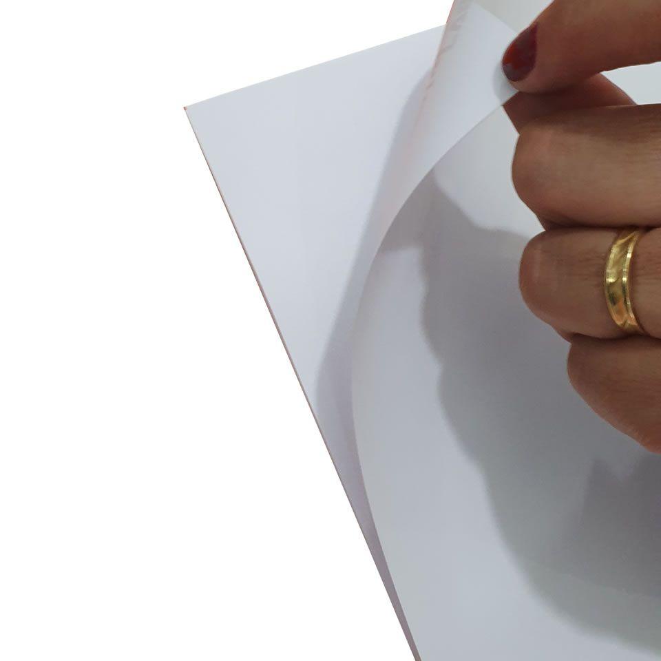 Papel adesivo 20 folhas 135g A4 branco Glossy Evolut