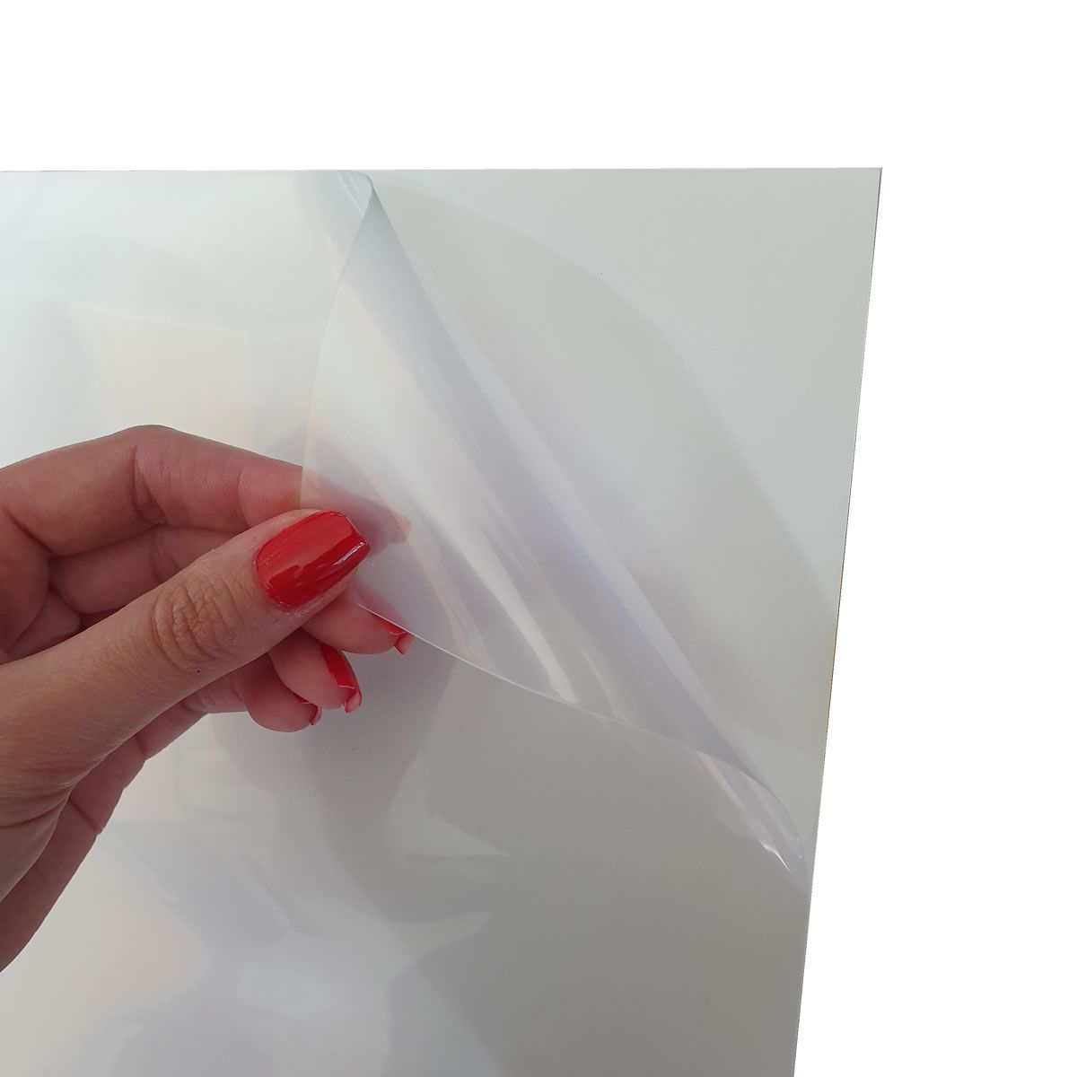 Papel Adesivo vinil transparente 115gr para Impressora Laser Printer 20 folhas A4 Chinamate