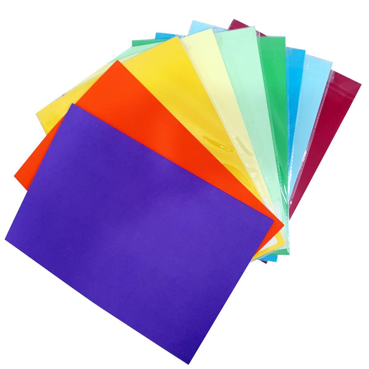 Papel Colors Plus 120g 50 folhas A4 Evolut
