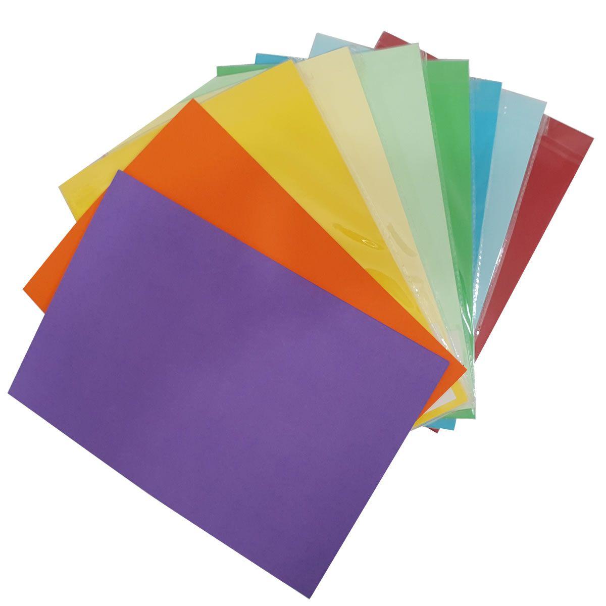 Papel Colors Plus 180g 50 folhas A4 Evolut