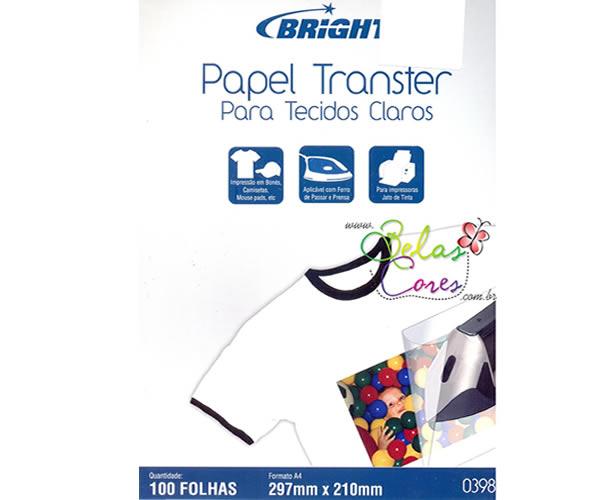 Papel Transfer A4 140g 100 folhas para Camisetas Tecido de cores claras