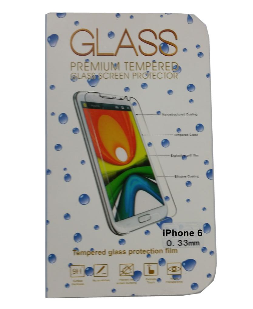 Película de Vidro Temperado Lisa para Iphone 6 iphone6 anti impacto