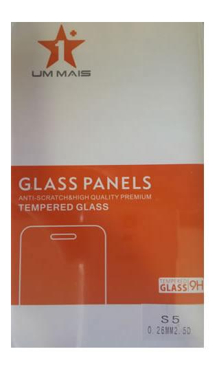 Película de Vidro Temperado Lisa para Samsung Galaxy S5 anti impacto