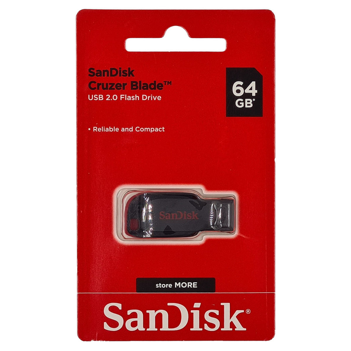 Pen Drive Cruzer Blade 64GB USB 2.0 B35 Sandisk