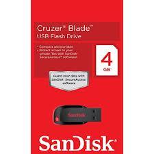 Pen Drive 4GB Sandisk Pendrive Cruzer Blade
