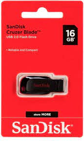 Pendrive Cruzer Blade 16GB USB 2.0 B35 Sandisk