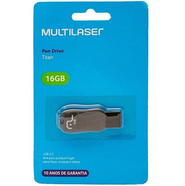 Pen Drive Titan 16GB USB 2.0 PD602 Multilaser