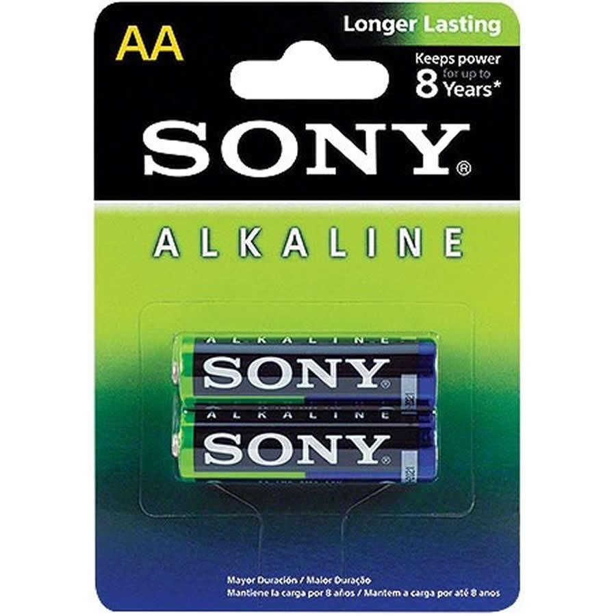 Pilha Alcalina AA Pack com 2 Sony AM3L-B2D