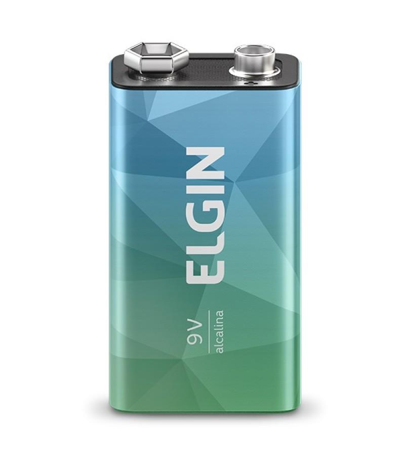 Pilha Bateria 9V Alcalina Energy Elgin