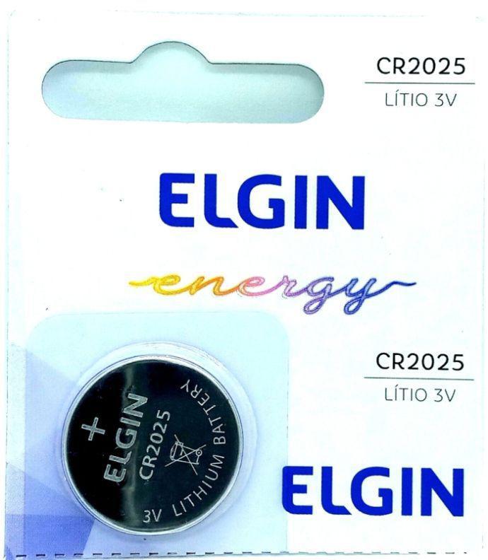 Pilha Bateria CR2025 Lítio 3V Energy Elgin