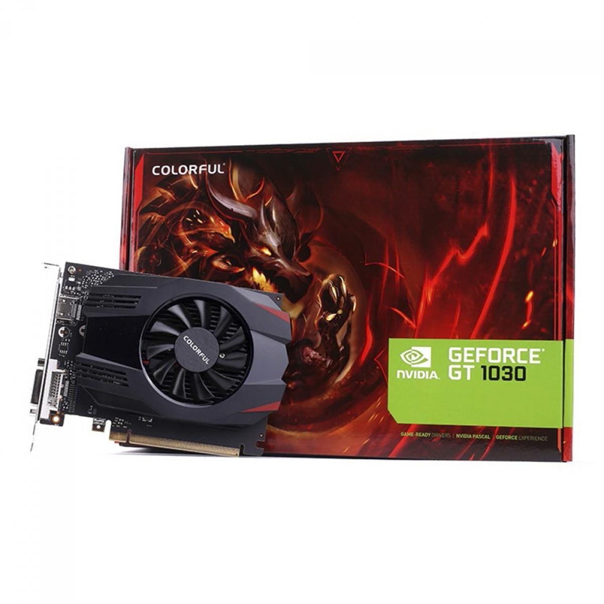 Placa De Vídeo GeForce GT 1030 SDDR4 64Bits COLORFUL