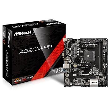 Placa Mãe Socket AM4 A320M-HD AMD ASRock