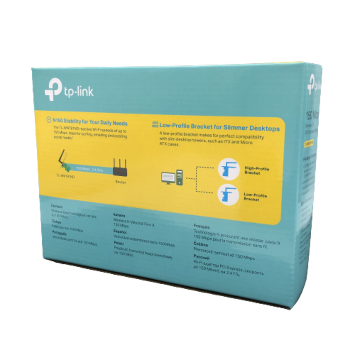 Placa PCI Express Adapter Wireless N 150Mbps TL-WN781ND Tp-Link