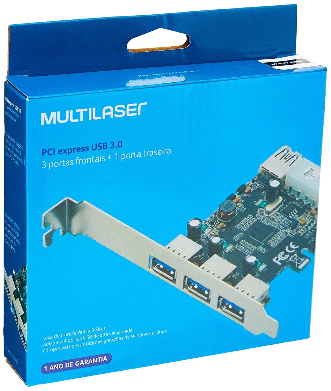 Placa PCI Express USB 3.0 GA130 Multilaser