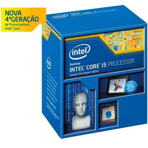 Processador Intel Core-i5 4590 3.3GHz Haswell 4-Core 6MB LGA1150 BOX BX80646I54590