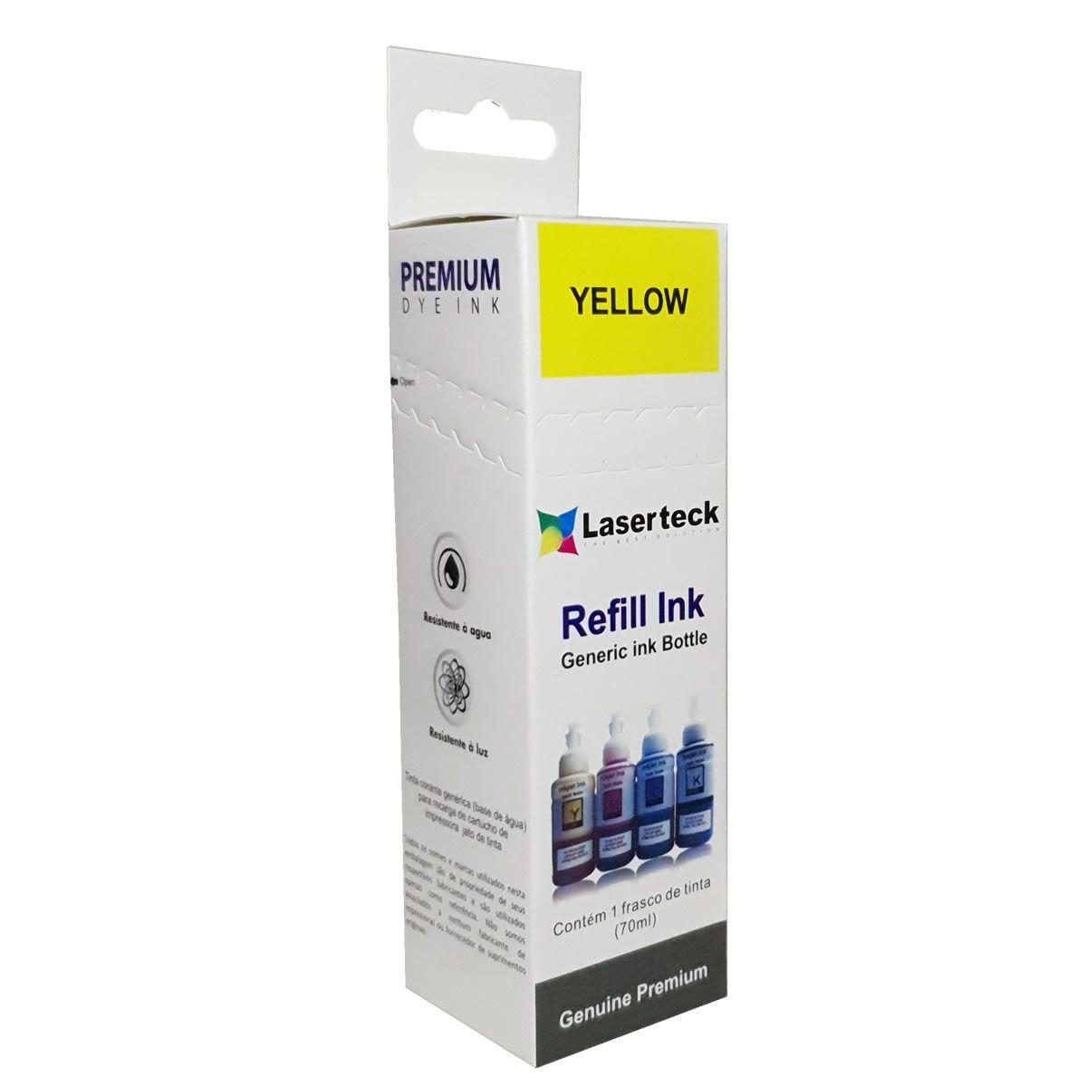 Refil de tinta T673420 Amarelo Compatível com ecotank L800 L805 L810 L850 L1800 da Epson