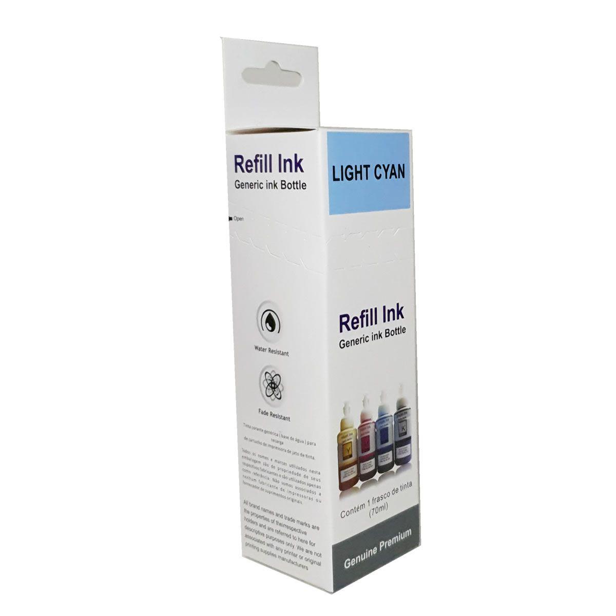 Refil de tinta T673520 Ciano Light Compatível com ecotank L800 L805 L810 L850 L1800 da Epson