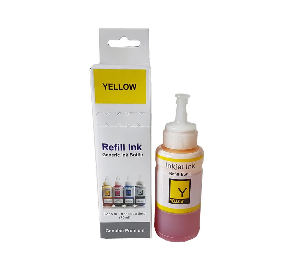 Refil De Tinta Amarela 70ml para Epson L200 L220 L110 L355 L365 L210 L565