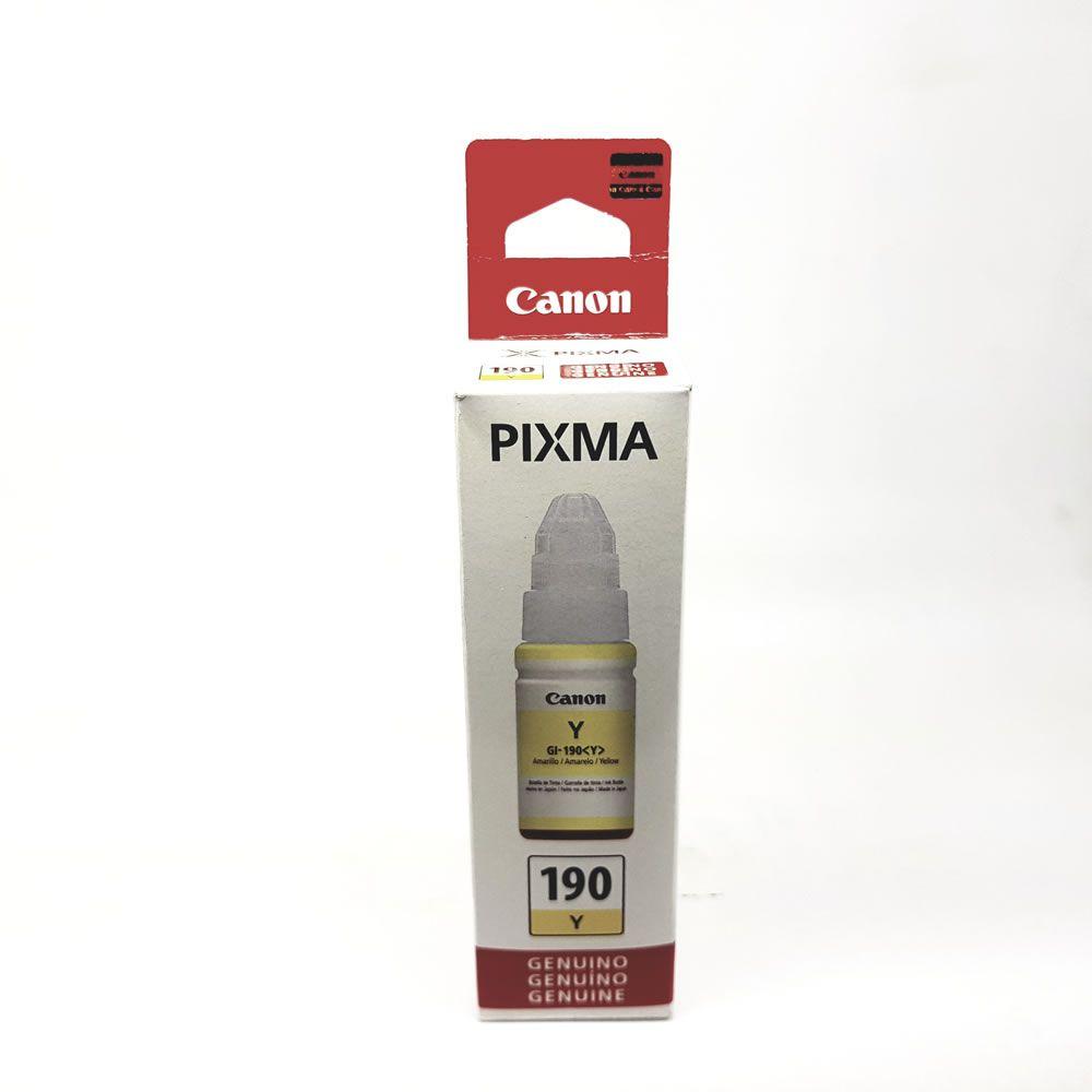 Refil de tinta GI-190 amarelo original Canon para G1100 2100 3100