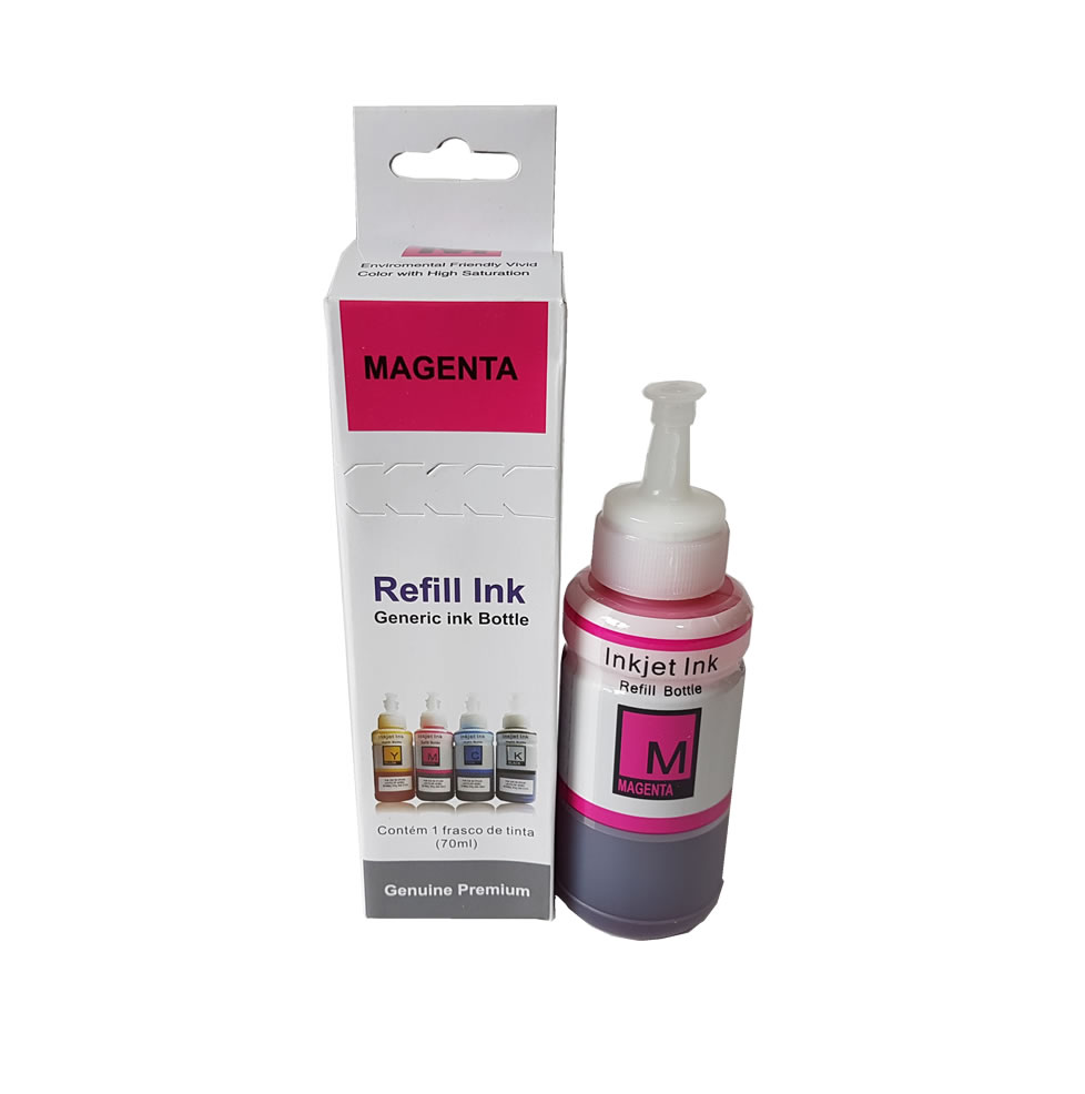 Refil De Tinta Magenta 70ml para Epson L200 L220 L110 L355 L365 L210 L375
