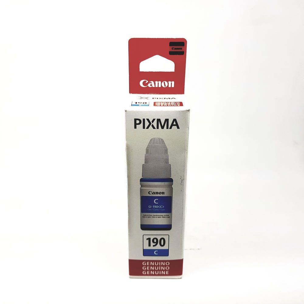 Refil de Tinta Ciano GI-190 para Pixma G1100 2100 3100 Canon