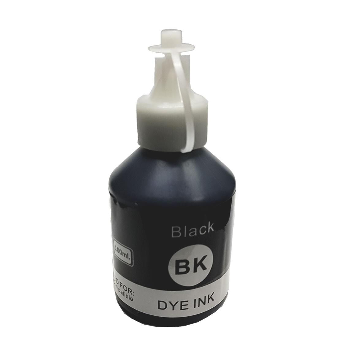 Refil de tinta BT6001Bk Preto 100ml Compatível para T300 T500W T700W T800W da Brother