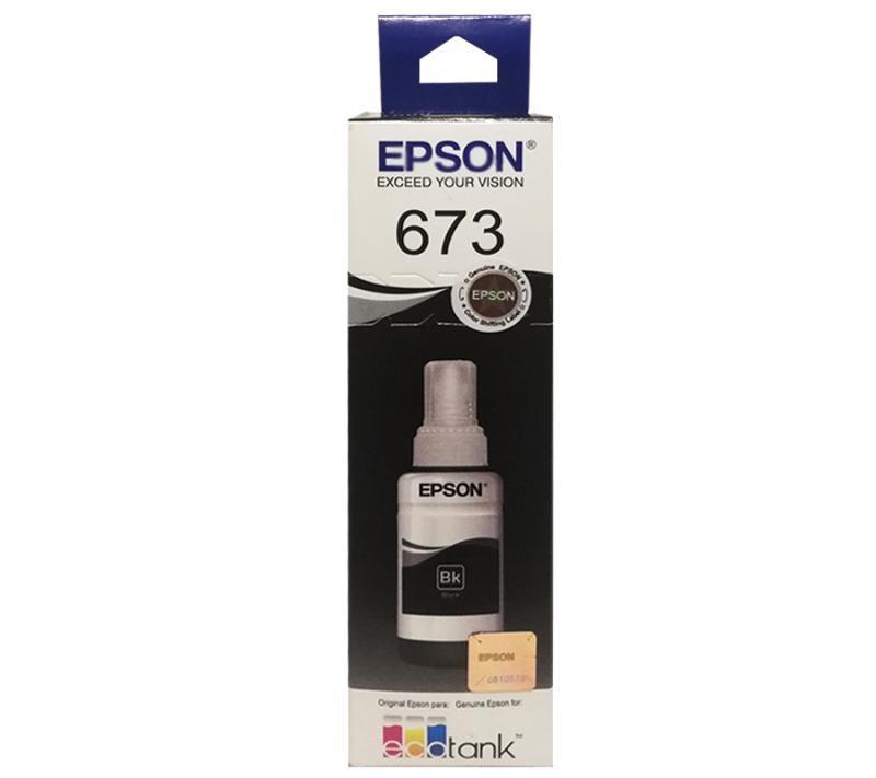 Refil de Tinta EPSON T673120 Preto 70ml para ecotank L800 L805 L810 L850 L1800