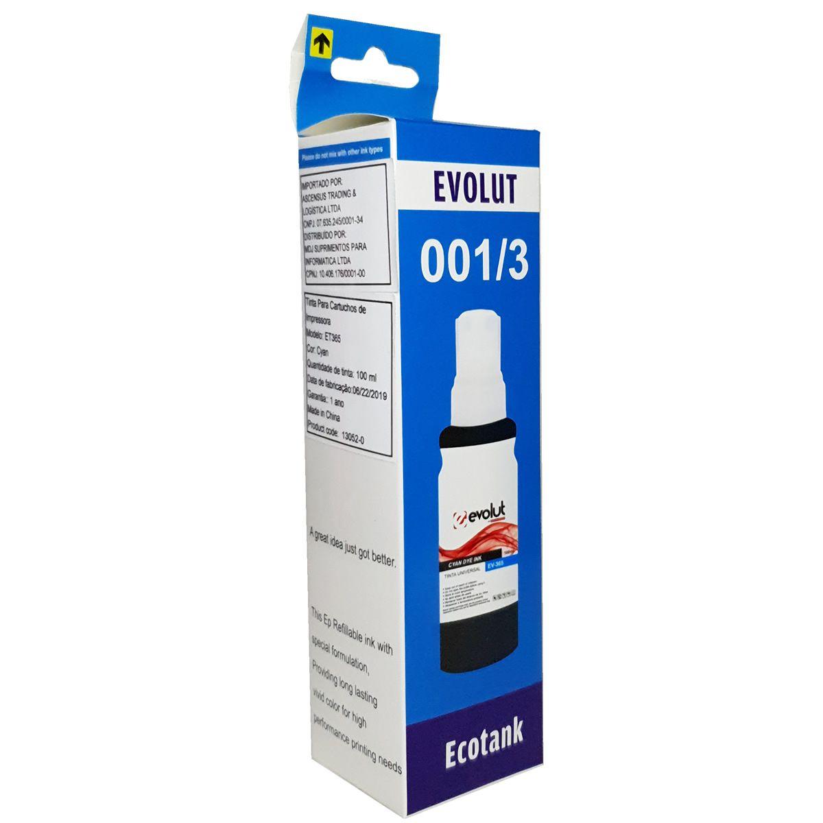 Refil de tinta T504220 Ciano para ecotank L4150 L4160 L6161 L6171 L6191