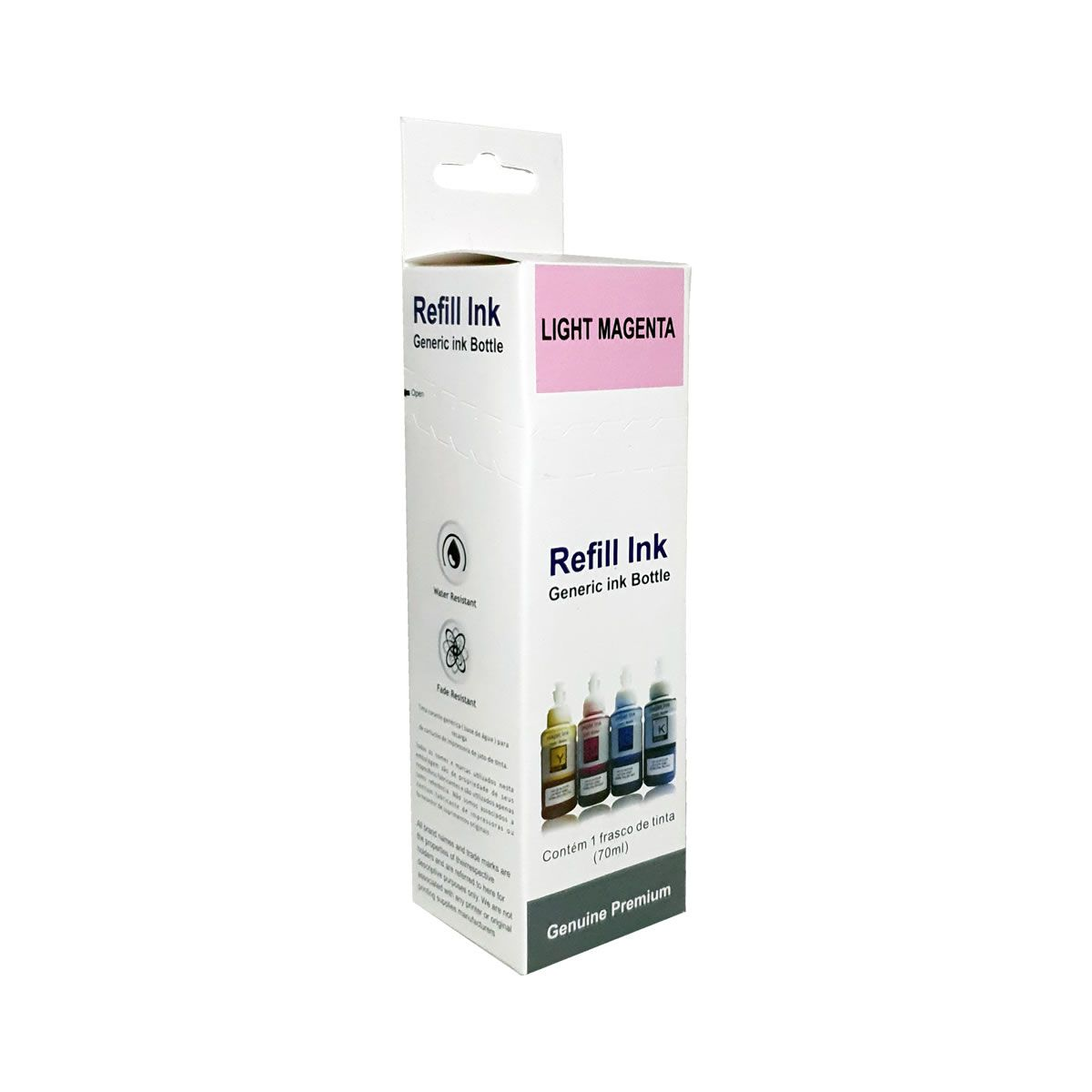 Refil de Tinta 673 Magenta Light 70ml Compatível com L800 l810 L1800 da Epson