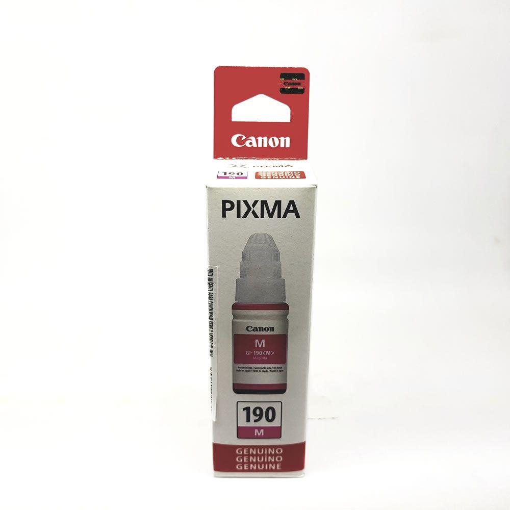 Refil de tinta GI-190 magenta original Canon para G1100 2100 3100
