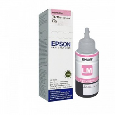 Refil de Tinta EPSON T673620 T6736 Magenta Claro para L800 L1800