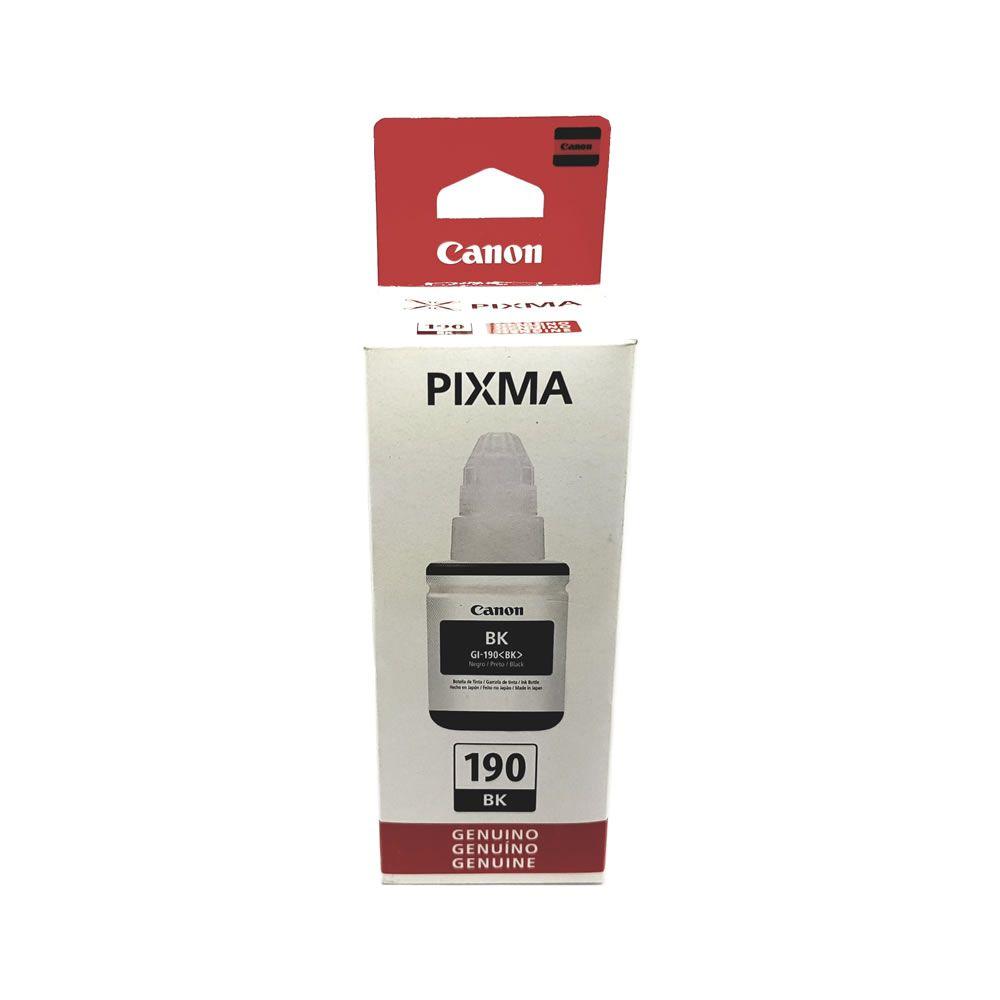 Refil de Tinta Preto GI-190 para Pixma G1100 2100 3100 Canon