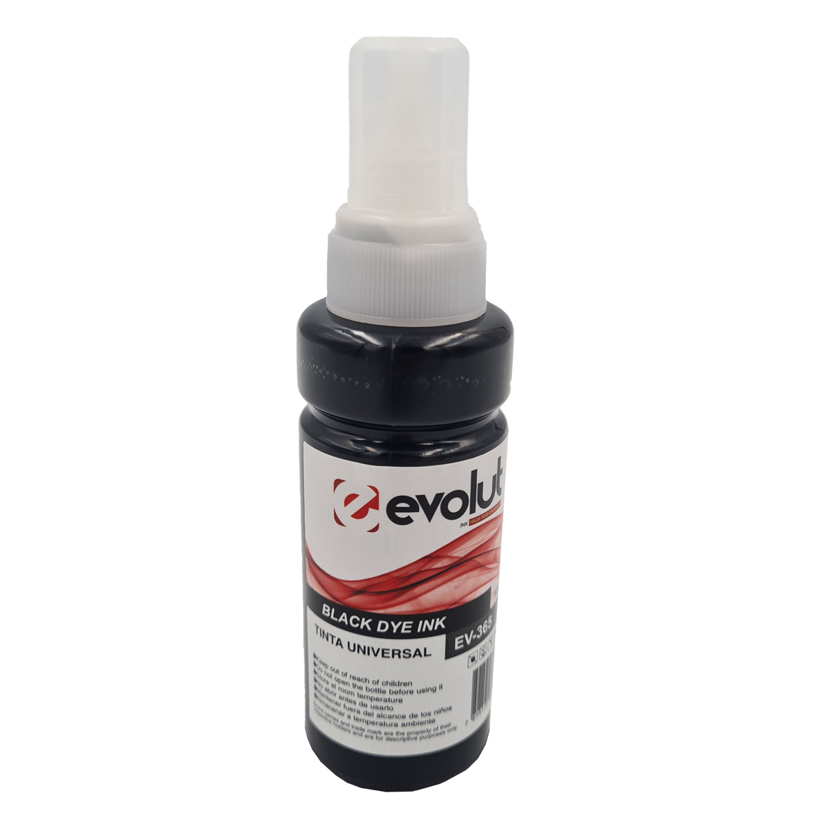Refil de tinta T664120 Preto Compatível com ecotank L375 L395 L1300 da Epson
