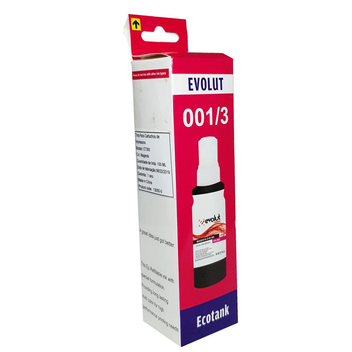 Refil de tinta T664320 Magenta Compatível com ecotank L375 L395 L1300 da Epson