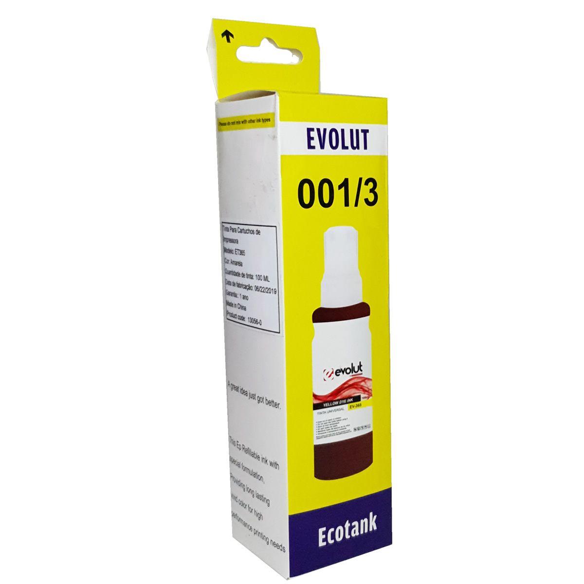 Refil de tinta T664420 Amarelo para ecotank L375 L395 L1300