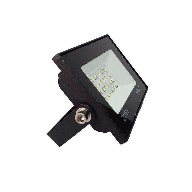 Refletor LED 20W SMD Holofote Iluminação Externa Bivolt IP66 Luz Branca