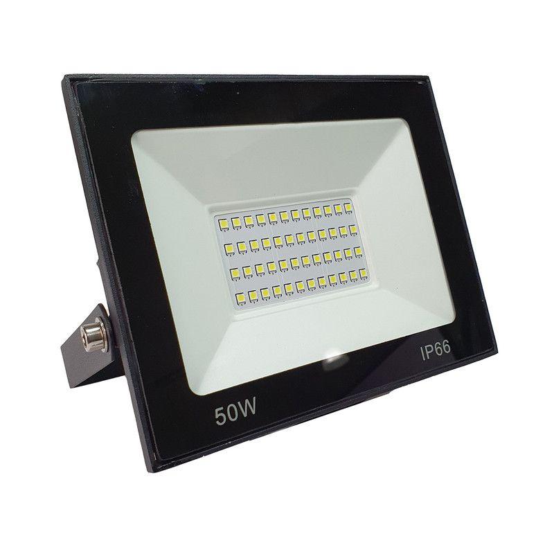 Refletor LED 50W SMD Holofote Iluminação Externa Bivolt IP66 Luz Branca