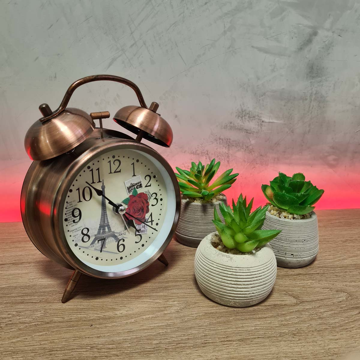 Relógio Retrô com Despertador Vintage Paris