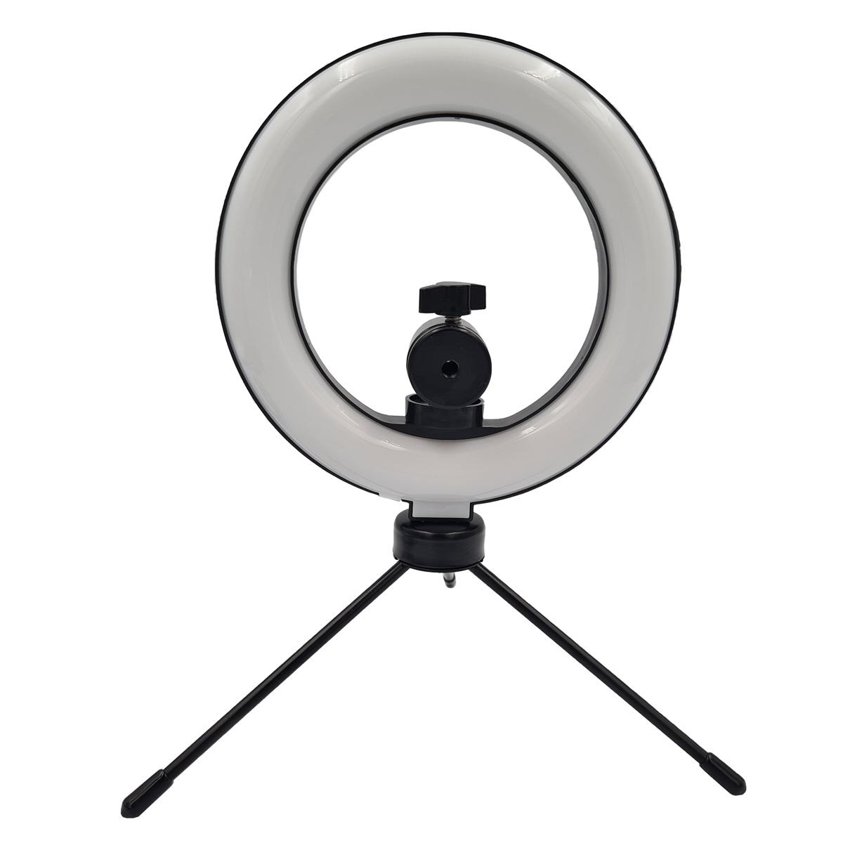 Ring Light 6 Polegadas com Tripé e Suporte para Câmera Q-161