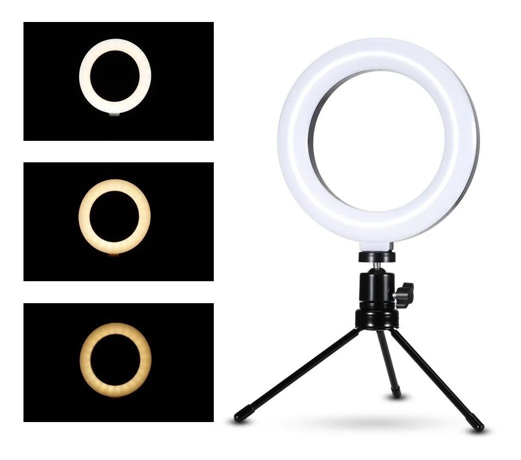 Ring Light 6 polegadas Youtuber com suporte para celular