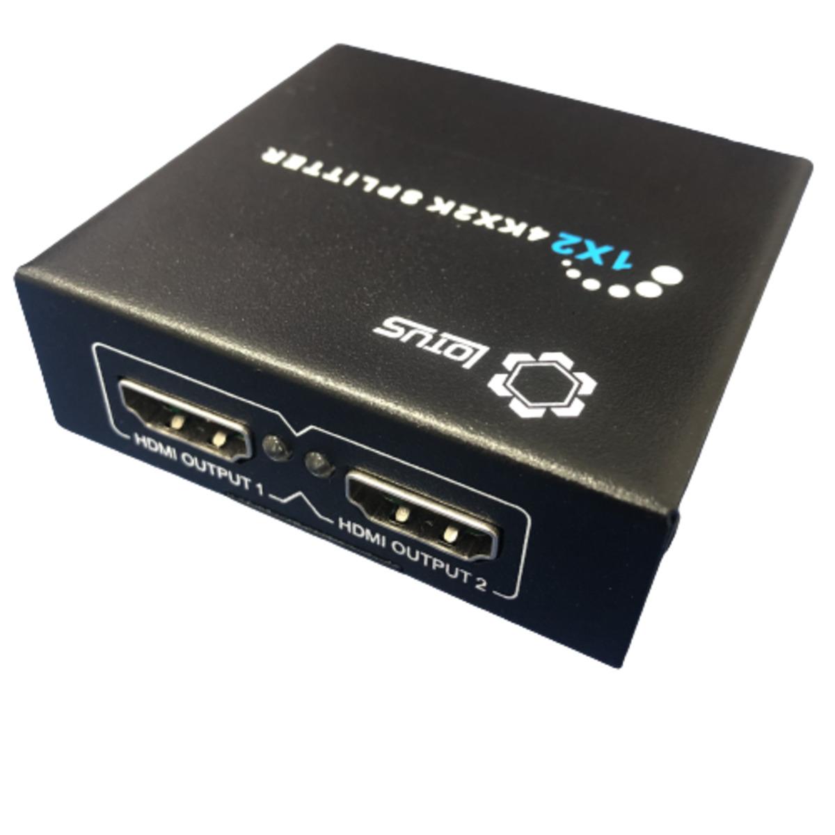 Splitter Divisor de Sinal HDMI para 2 Saídas HDMI Preto LT142 Lotus