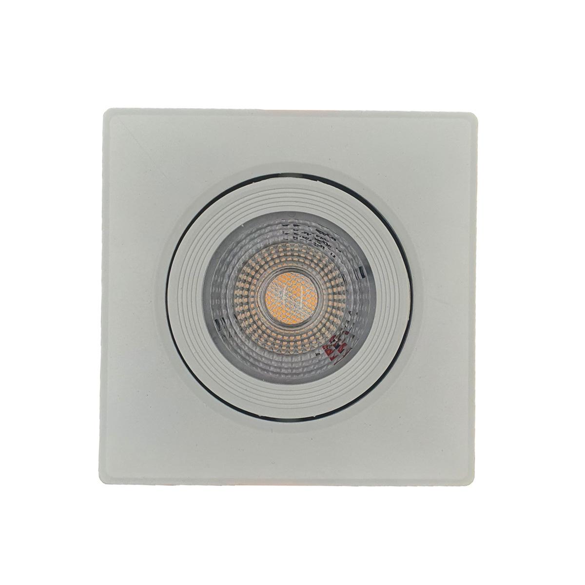 Spot LED SMD 5w Dicróica Direcionável Quadrado Forte Luz Quente