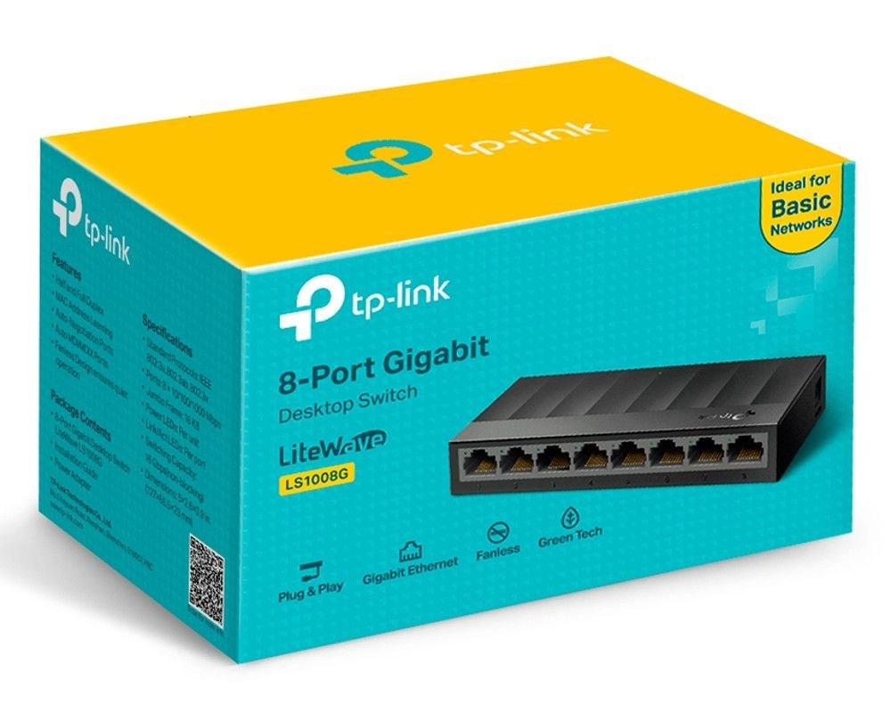 Switch de Mesa com 8 Portas 10/100/1000Mbps Gigabit LS1008G Tp-Link