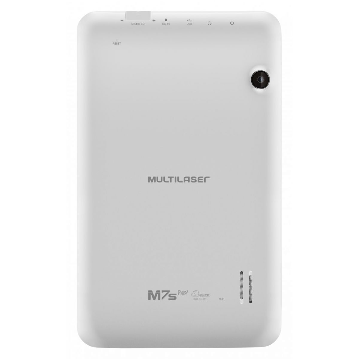 Tablet M7S Quad Core Android 4.4 Wi-Fi 7 8GB Branco NB185 Multilaser