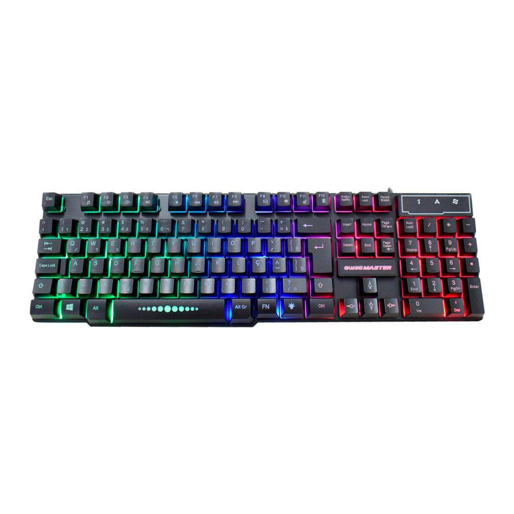 Teclado Gamer com LED RGB Anti Ghost Gaming Master KMEX KM52