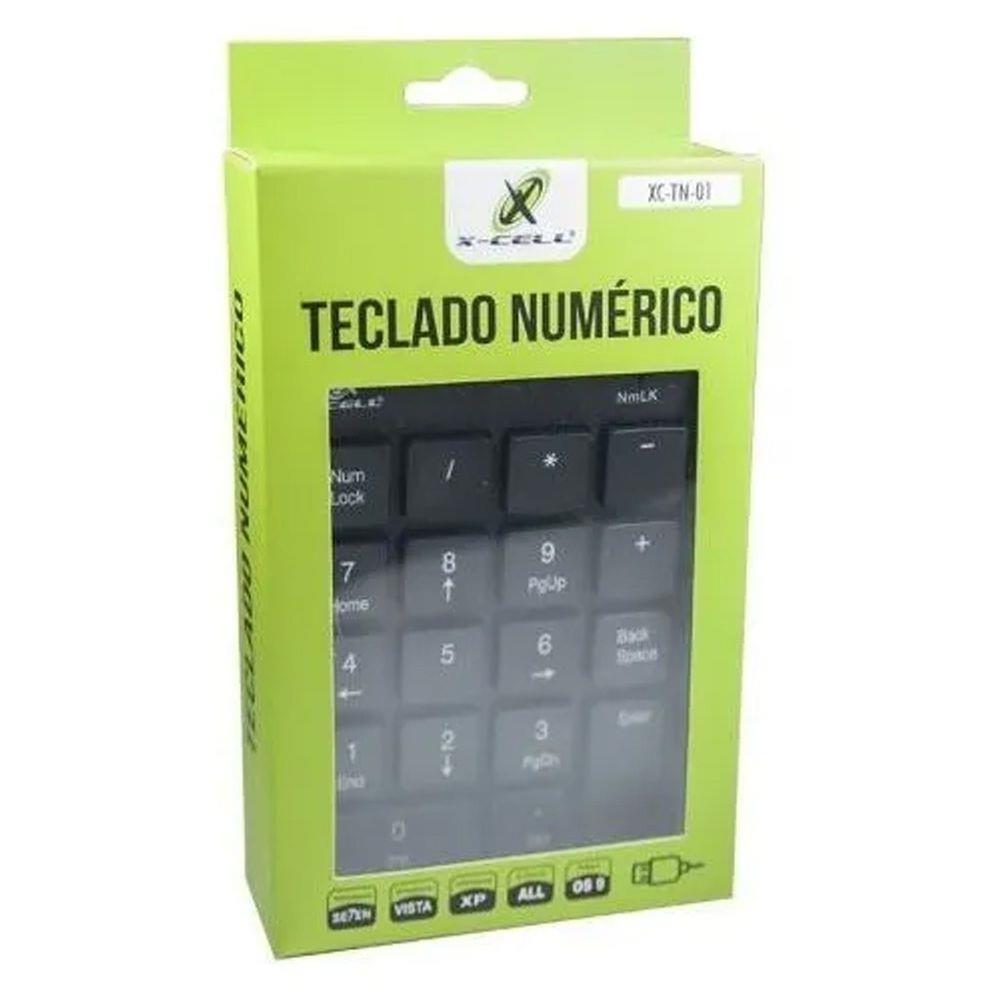 Teclado Numérico USB 18 Teclas XC-TN-01 X-Cell
