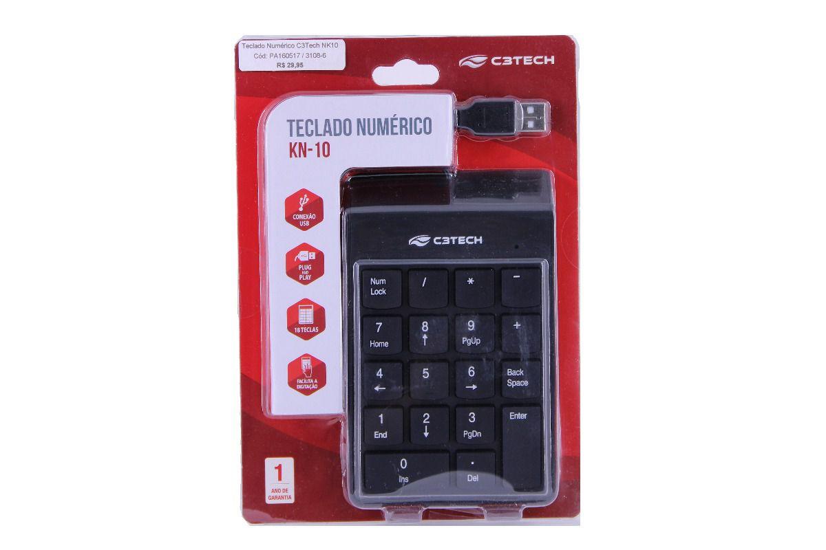 Teclado Numérico USB KN-10 C3Tech